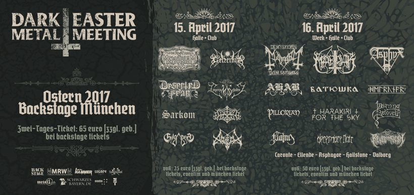 Dark Easter Metal Meeting 2017 Flyer
