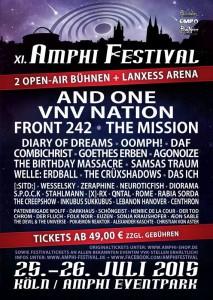Amphi Festival 2015 – Amphi Eventpark Köln – Vorbericht