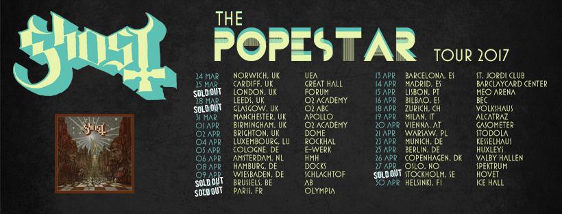 Popestar Tour 2017 Ghost