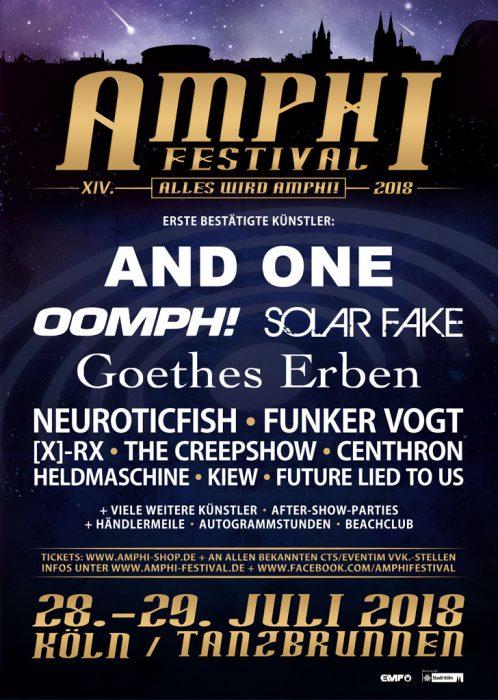 Das Amphi Festival bestätigt erste Bands für 2018