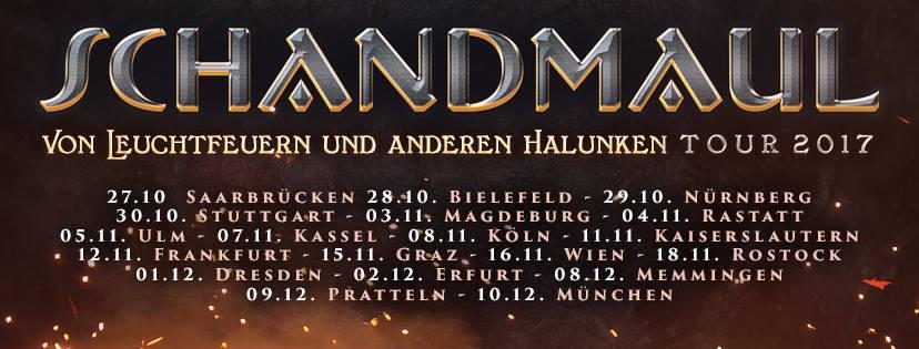 """Schandmaul auf Nachhol-Tour """"Von Leuchtfeuern und anderen Halunken"""""""