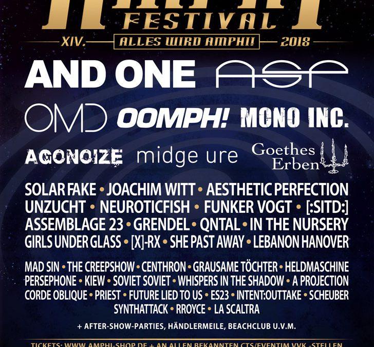 Amphi Festival 2018 stellt Running-Order online