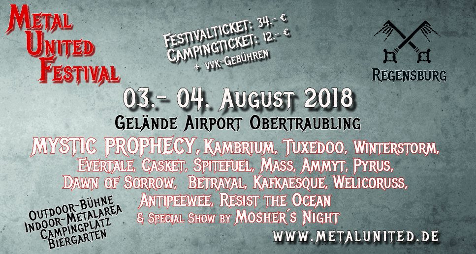 Metal United Festival Regensburg 2018 – Eventhall Airport Obertraubling – Vorbericht