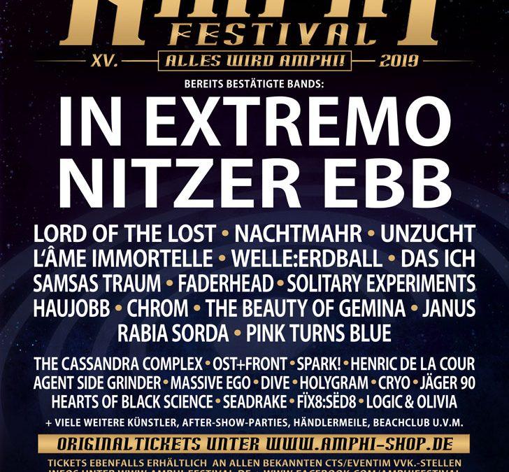 Das Amphi Festival 2019 nimmt Gestalt an