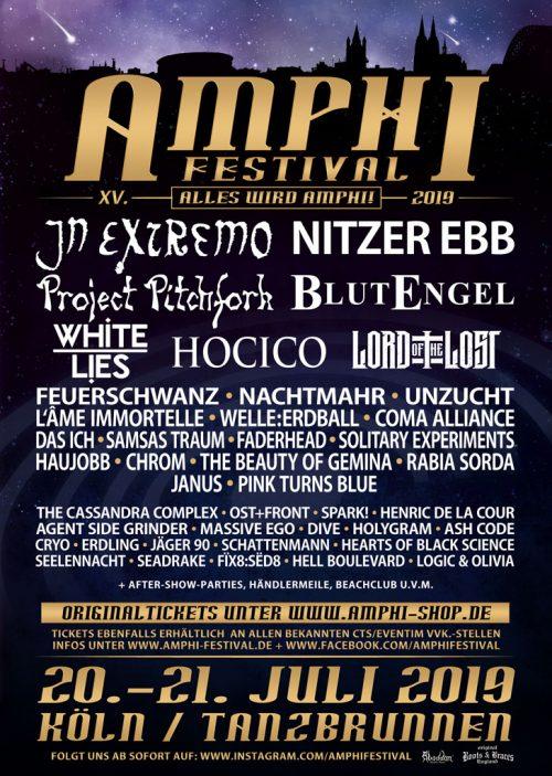 Amphi Festival 2019 Flyer