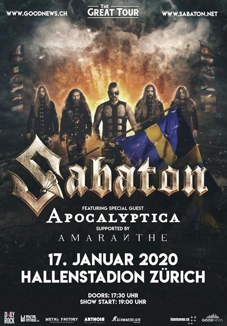 Sabaton – 17.01.2020 – Hallenstadion Zürich – Vorbericht