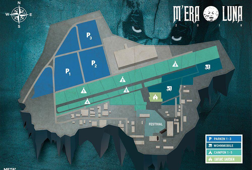 Die vorläufigen Geländepläne vom M'era Luna Festival